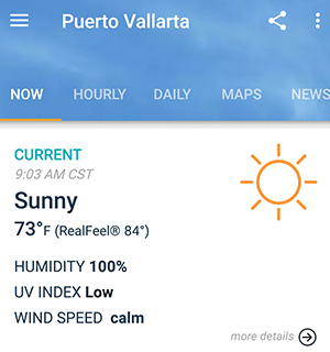 Accuweather Screenshot - Samsung Galaxy 8