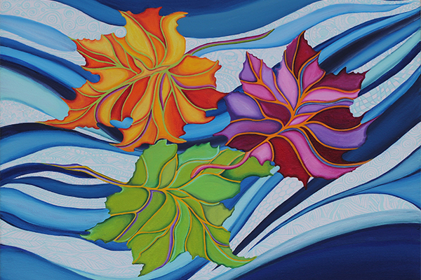 Carried on the Breeze - Acrylic on Canvas, 24 X 18 Inches - Photo by Mark D'Harlingue2